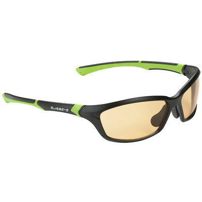 Swiss Eye Drift Sunglasses Photochromic Smoke Orange Lens Matt Black Green Frame