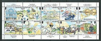 Isle Of Man 1994 Manx Tourism Centenary Booklet Pane Unmounted Mint, Mnh