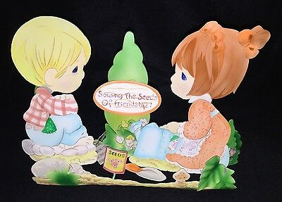 """Precious Moments """"Sowing The Seeds Of Friendship!"""" Garden Stand, Retired"""