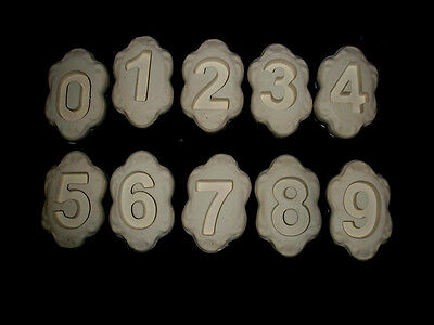 LOT OF 10 NUMBERS glass fusing frit  jewelry  molds