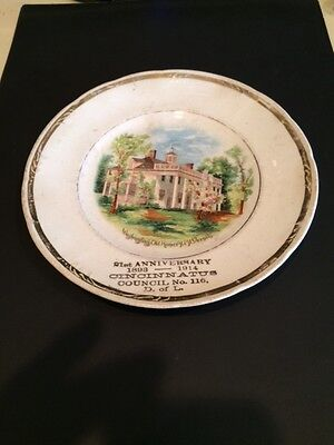 1914 Daughters of Liberty Cincinnatus Council No.116 Anniversary Plate-Mt.Vernon
