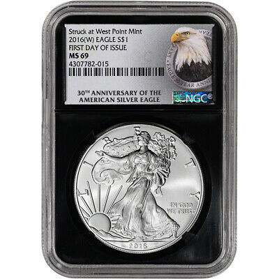 2016-(W) American Silver Eagle - NGC MS69 - First Day of Issue - 30th Ann Retro
