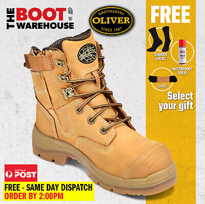 Oliver Work Boots, 55332z, Steel Toe Cap Safety, Side Zip,  FREE GIFT OPTION!