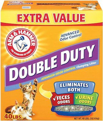 Arm & Hammer Double Duty Clumping Litter 40-Pounds (718533) dust free  BRANDNEW