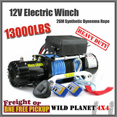 13000LBS/5897KGS Wireless Electric Winch Synthetic Rope ATV 12V 4WD BOAT TRCUK