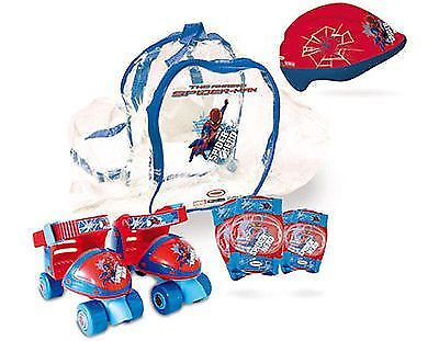 THE AMAZING SPIDER-MAN Quad Skates Set (Quads Skates + Helmet/Pads and Bag