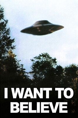 I Want To Believe X Files Ufo Alien Conspiracy Theory A3 Poster Art Print