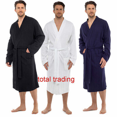 Mens   bathrobe 100% PURE Cotton Summer  Holiday   Dressing Gown Robe t561