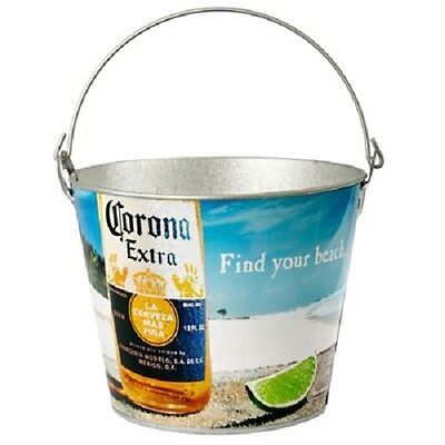 Corona Extra Find Your Beach Metal Ice Bucket With Bottle Opener New