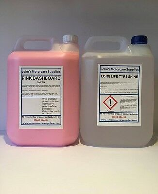 Tyre Dressing Long Lasting Tyre Shine 5 Litres & Pink Sheen Dashboard 5 Litres