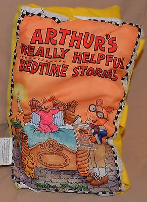"12"" Arthur's Really Helpful Bedtime Stories Plush Pillow Books Bed Time Story"