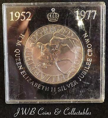 1952-1977 Queen Elizabeth II Silver Jubilee Cased Crown Coin...