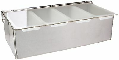 New Star 48025 Stainless Steel Condiment Dispenser with 4 Compartments Si... New