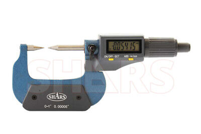 """Shars 1-2""""/25-50mm  0.00005"""" Electronic Point Micrometer New"""