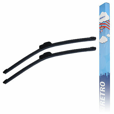 Ford Fiesta MK6 Hatch Aero VU Front Flat Window Windscreen Wiper Blades