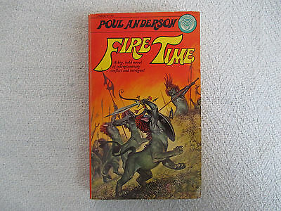 1975 FIRE TIME by Poul Anderson 1st Ballantine Paperback FN-