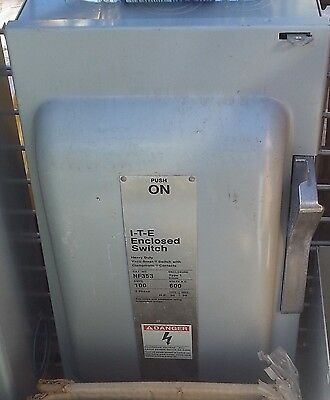 Siemens ITE NF-353 100A 600V 3 Pole Non-Fusible Disconnect Switch