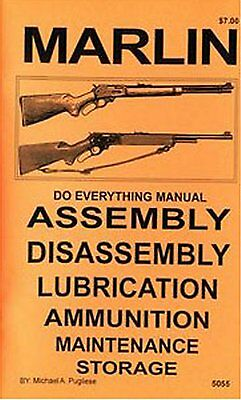 Marlin Lever Action Rifles All Models Do Everything Manual DISASSEMBLY CARE BOOK