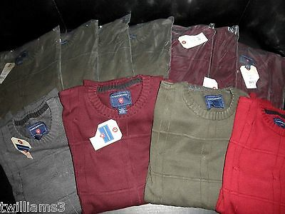 NWT $605 Wholesale Lot of 11-piece Saddlebred® Mens Crewneck Sweater   75% OFF!