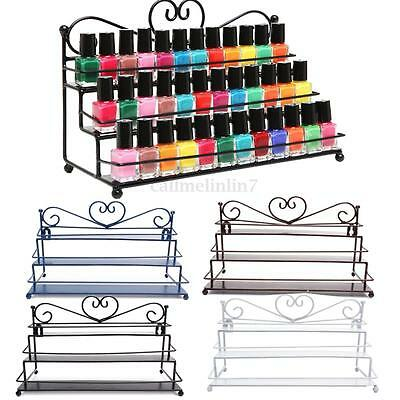 Nail Polish Rack Organizer Tiers Heart Metal Wall Mounted Stand Holder Display
