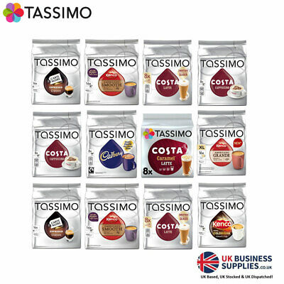 Mega Value 288 & 144 Tassimo Pack inc Costa £0.29p per Pod !!!