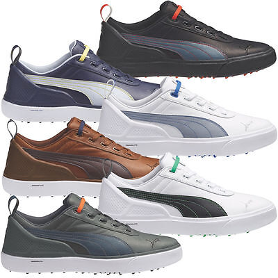 New Puma Golf Mens Monolite Waterproof Spikeless Leather Sport Lite Tour Shoes
