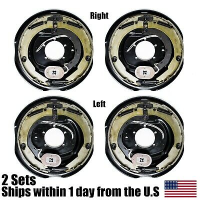 "(4) Electric Trailer Brakes Right & Left Backing Plate 12"" X 2"" 5200 to 7000lb"