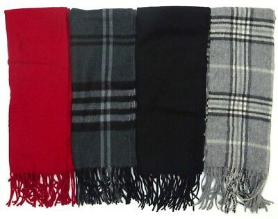 "Men's or Women's Enzo Mantovani Cashmere / Wool Blend 62""x12"" Scarf Choose Color"