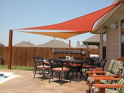 10' Right Triangle Shade Sail Made in USA  Multiple Colors Available NO SEAMS