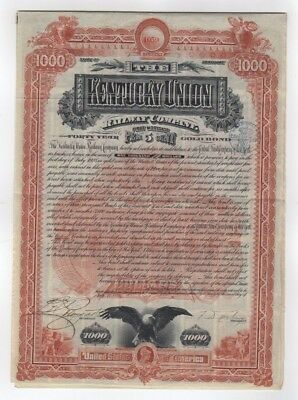 1888 Kentucky Union Railway Company  Bond