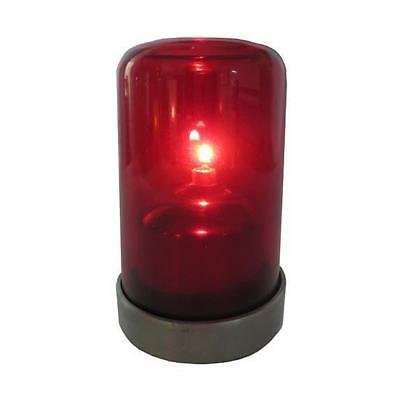10x Oil Table Lamp / Light 'Aurora - Red', Restaurant - Safer than a Candle
