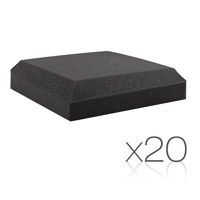 NEW 20x Recording Studio Home Theatres Ceiling Sound Flat Acoustic Foam Charcoal