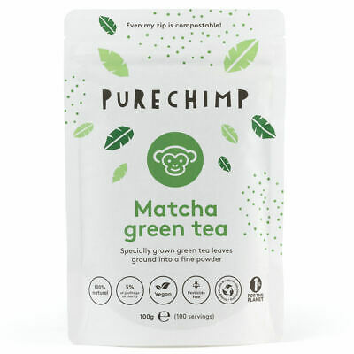 Matcha Green Tea Powder by PureChimp™ - Super Tea - 100g - Ceremonial Grade
