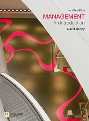 Management: An Introduction, Boddy, David Paperback Book The Cheap Fast Free