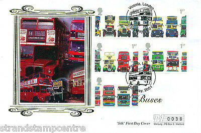 2001 Buses (Stamps) - Westminster (Silk) Official