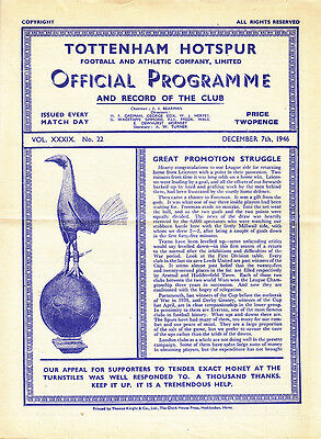 1946/47  Tottenham v Chesterfield