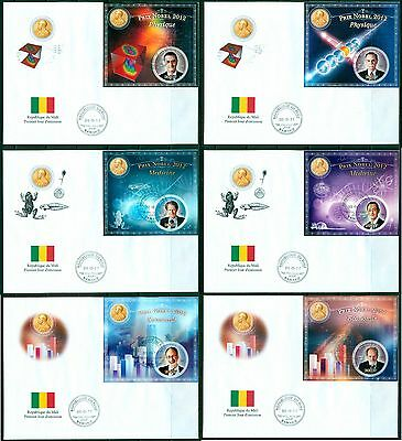 Mali Nobel prize winners 2012 set of 10 covers