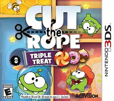 SEALED NEW Nintendo 3DS Cut the Rope Triple Treat Video Game Experiments Travel