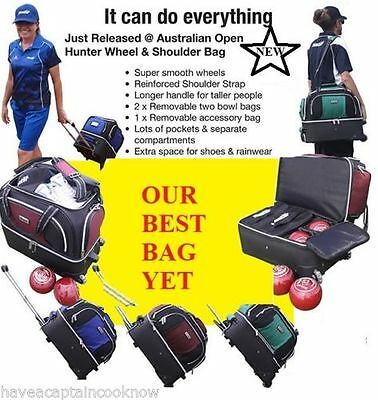 Hunter Lawn Bowls Trolley Bag 860 **all Colours Available**