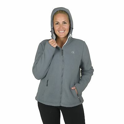 Champion Women's Plus Perfect Hooded mountain go-to jacket with Faux Sherpa Inte