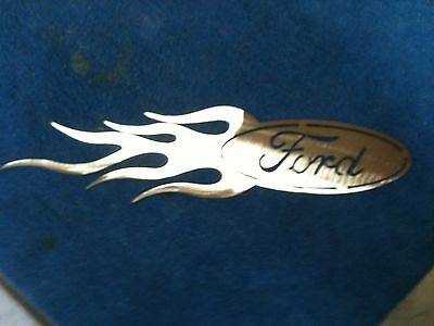 Ford Logo with flames Metal Man Cave/Garage Wall Art