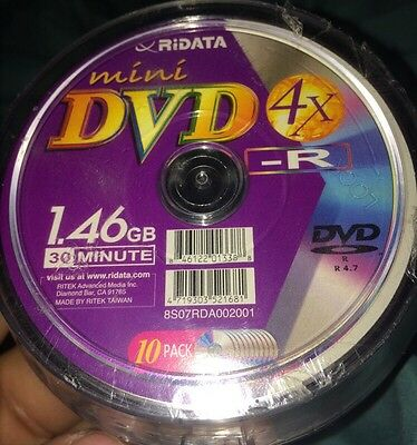 10-Pak Ritek/Ridata Mini DVD-R fits HITACHI/PANASONIC/SONY/GAME CUBE Nintendo