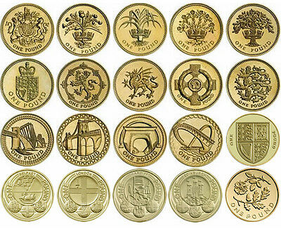 Rare British £1 pound one pound coins Brilliant  circulated from 1983-2015