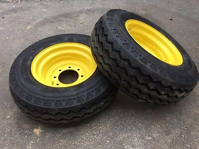 2 NEW HD Camso 11L-16 Backhoe Tires/wheels/rims-F3 12 ply rating-11L-16SL-11LX16