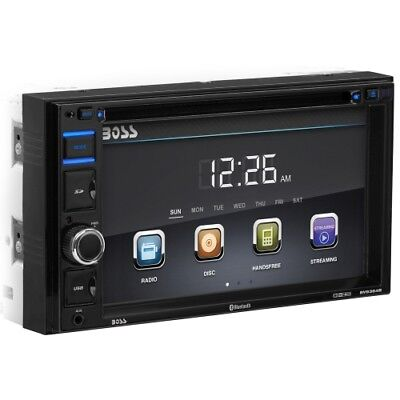 """Boss BV9364B In-Dash Double-DIN 6.2"""" Touchscreen Monitor Bluetooth DVD Player"""