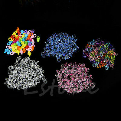 50Pcs New Clear Baby Shower Favors Mini Pacifiers Girl Boy Party Game Decoration