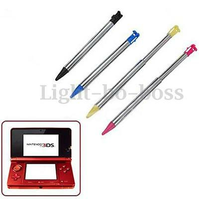 Metal Stylus Touch Screen Pen for Nintendo 3DS Retractable Colorful Tip