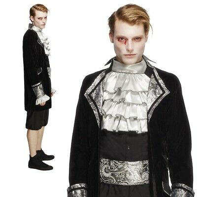 Adult Deluxe Baroque Vampire Costume Mens Halloween Fancy Dress Dracula New