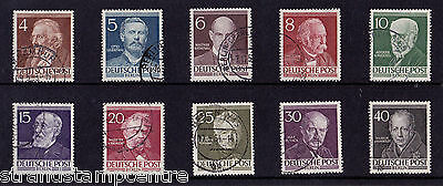 Germany (Berlin) - 1952-53 Famous Berliners - CDS Used - SG B91-100