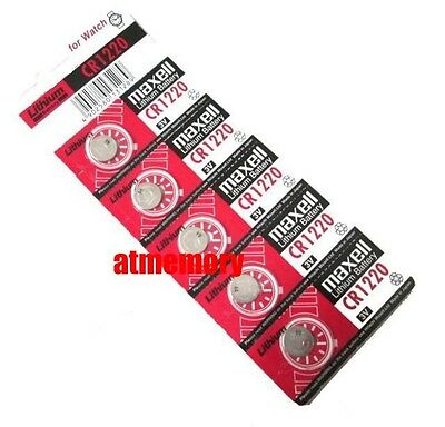Maxell CR1220 CR 1220 3V Button Coin Cell Watch Battery x 5pcs Japan Genuine